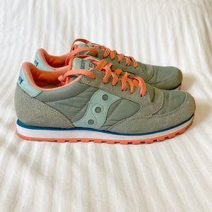 Saucony Jazz LowPro Sneaker slate Green/Coral - 8